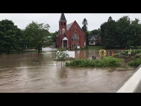 Biggest flood in ontario ever over one night