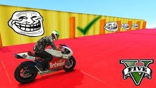 GTA V Online: 9999,999% TROLLL (O CAMINHO mais DIFÍCIL DE MOTO)