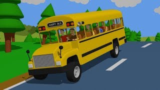 Wheels on the Bus - Nursery Rhymes & Kids Songs -  Bazylland Piosenka