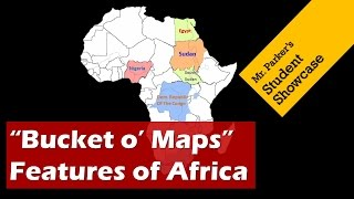 Political and Physical Maps of Africa - Bucket O Maps