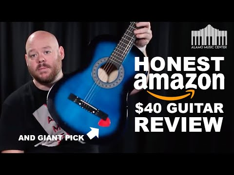Unboxing An Amazon Best Selling $40 Acoustic Guitar - Guitar Buyer's Guide