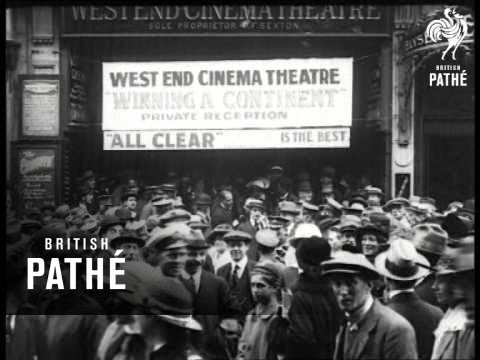 Cinema Showing Propaganda Film (1917)