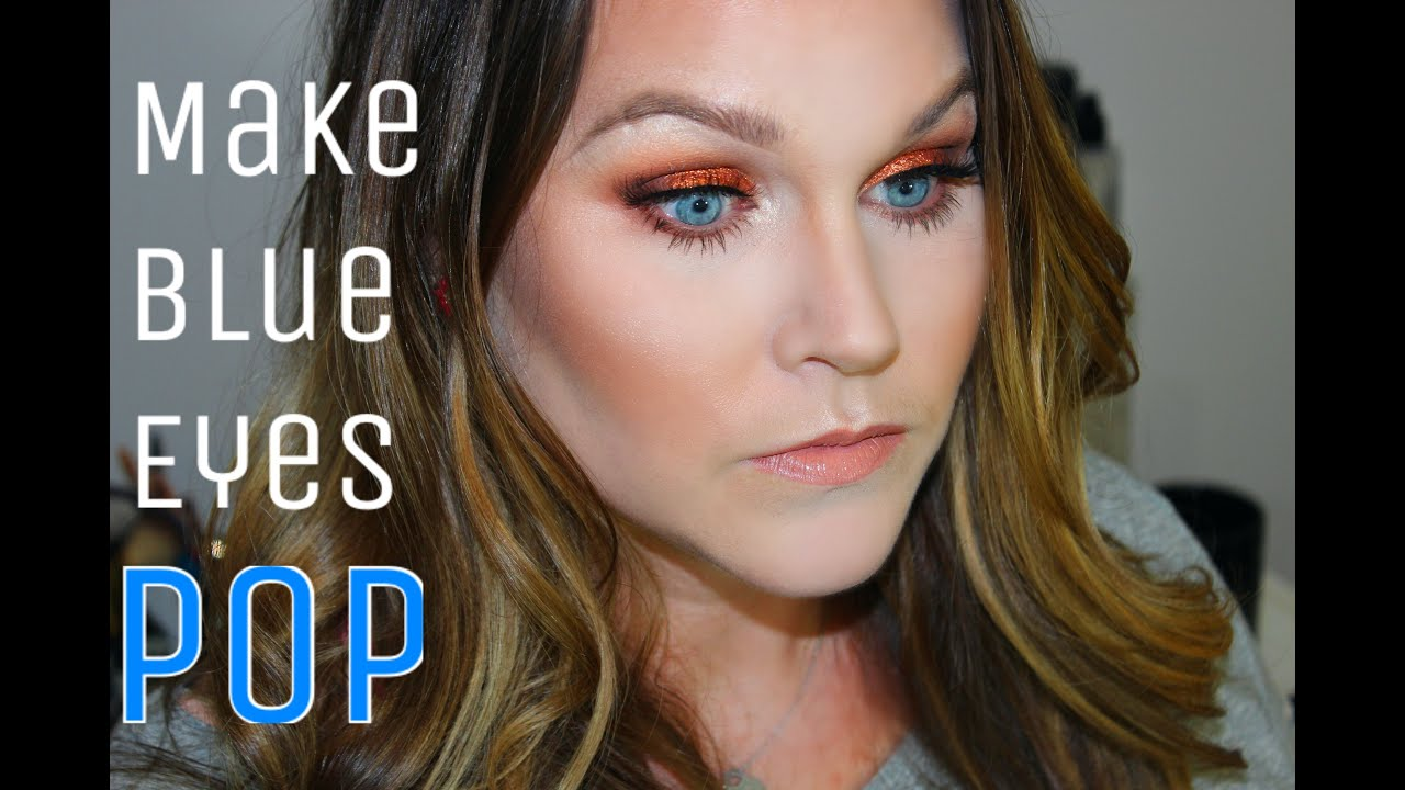 How To Make Blue Eyes POP / / Client Makeup Tutorial - YouTube
