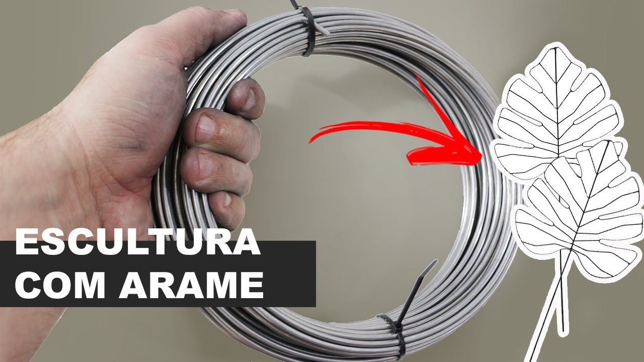 APRENDA DE MANEIRA FÁCIL COMO FAZER LINDAS ESCULTURAS DE ARAME (COSTELA DE ADÃO DE ARAME)