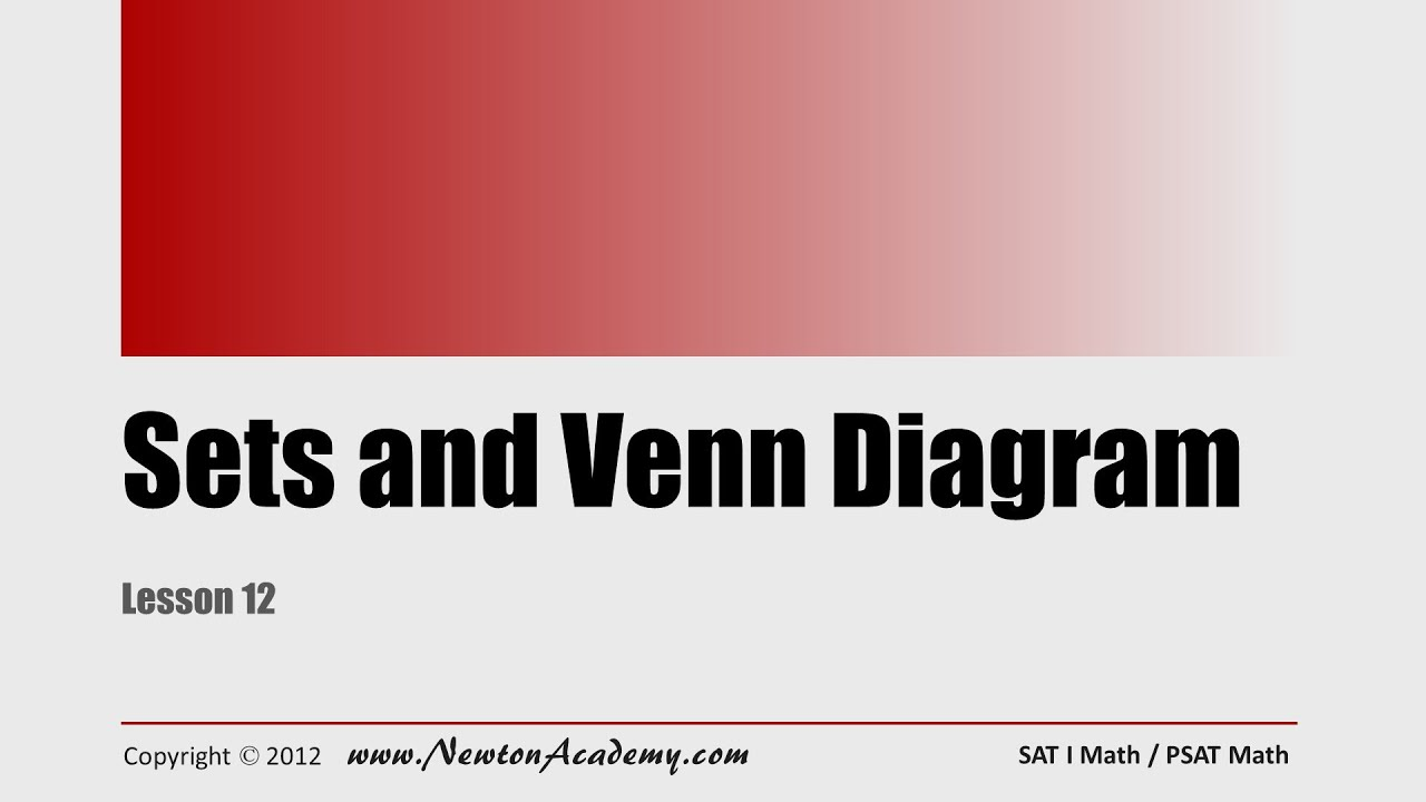 Sat math lesson 12 sets and venn diagram youtube sat math lesson 12 sets and venn diagram pooptronica Gallery