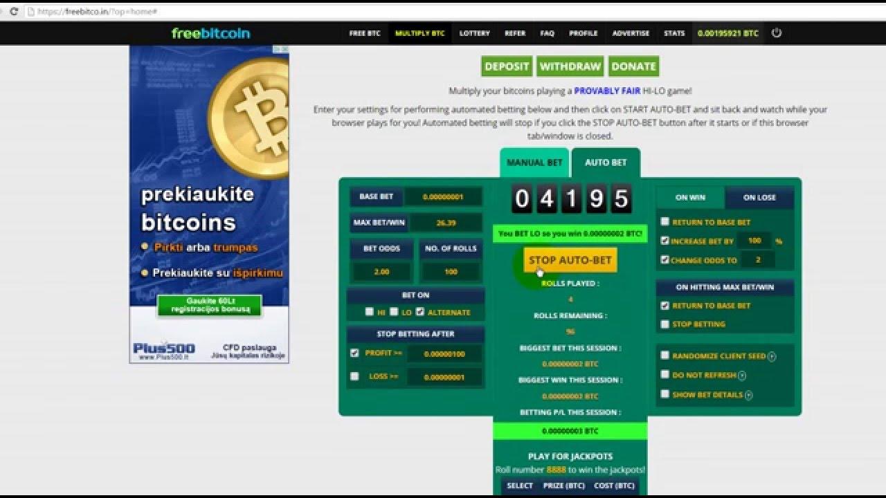Программа для сбора биткоинов на автомате