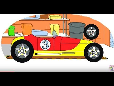 Cartoni Animati Coloriamo Insieme Le Auto Legendarie Prima