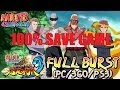 Naruto Shippuden Ultimate Ninja Storm 3 Full Burst 100% Save Game Download ...