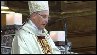 Dos imágenes del beato Juan Pablo II y san Josemaría Escrivá en Zaragoza