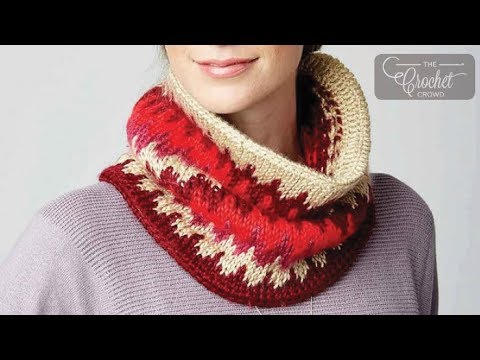 How To Tunisian Crochet A Cowl: Fair Isle Cowl