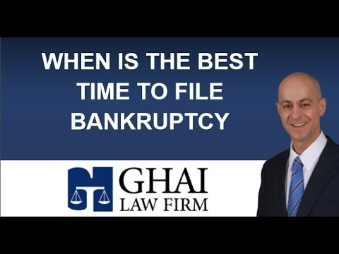 When's the Best Time to File for Bankruptcy | Kennesaw Bankruptcy Attorney