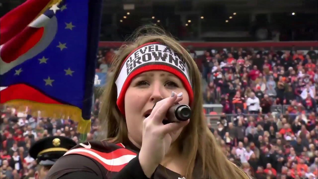 Katelyn DeLadurantey - National Anthem at the Cleveland Browns