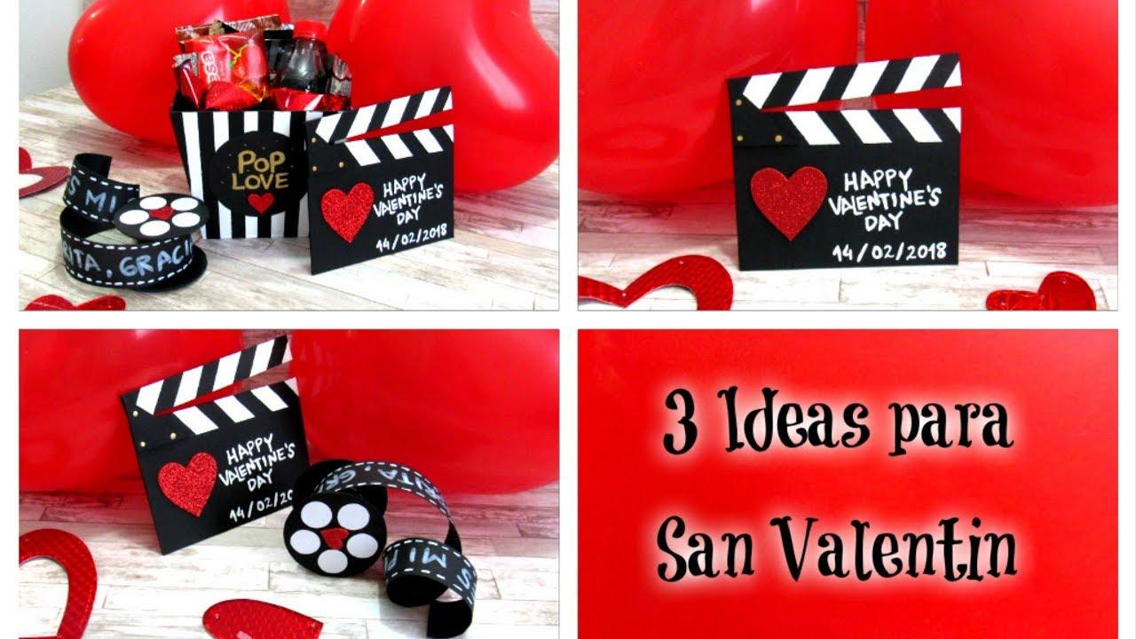 Regalos De San Valentin Para Mi Novio Manualidades.3 Ideas Para San Valentin Kit De Cine Regalo Para Novio O Mejor Amiga