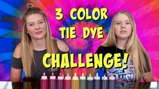 THREE COLOR TIE DYE CHALLENGE || Taylor and Vanessa