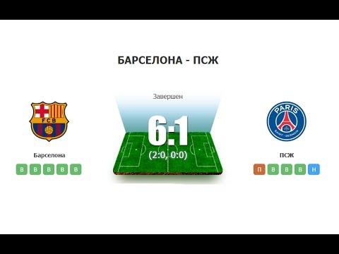 Барселона – ПСЖ обзор матча смотреть онлайн ()