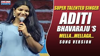 Mella Mellaga Full Video Song | ABCD Movie Songs | Aditi Bhavaraju | Sid Sriram | Madhura Audio