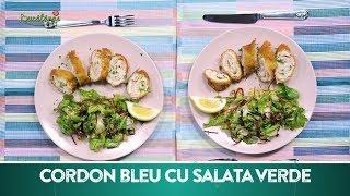 Reteta Cordon Bleu cu salata verde | Bucataras TV