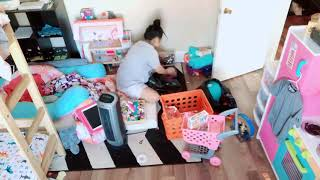 Tidying up the kids room time lapse!