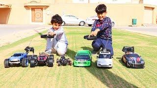تحدي سباق السيارات القويه بالشارع بين زياد والياس