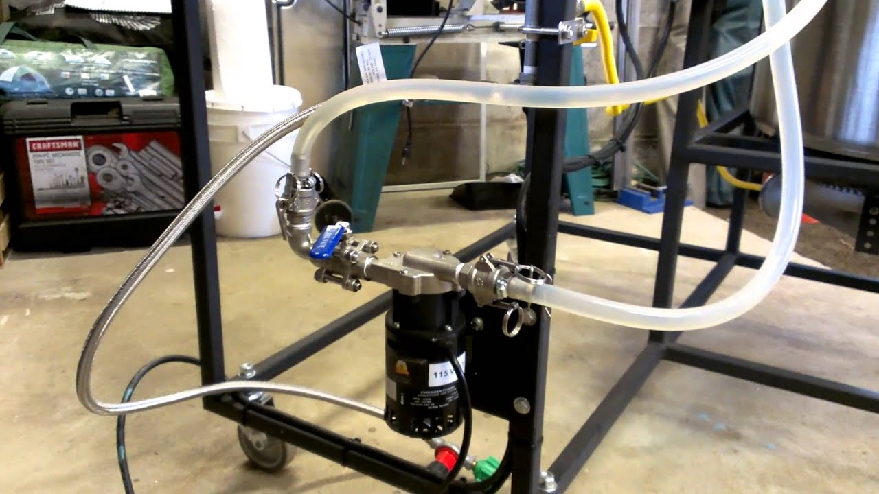 Chugger Pump On My New Half Barrel Brew System Youtube