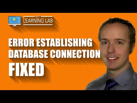 "How to fix ""Error establishing a database connection"" 