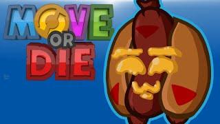 Move Or Die! - DON'T TOUCH MY HOTDOG! (Cartoonz Vs Ohm Vs Squirrel Vs Delirious)