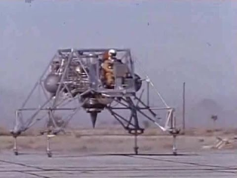 NASA Moon Lander Simulator Test Bed - 1960s - CharlieDeanArchives / Archival Footage