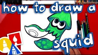 How To Draw Splatoon Inkling Squid 🦑