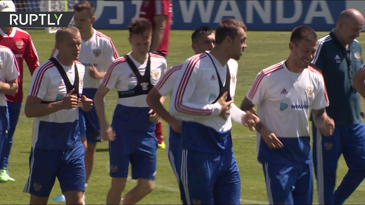 Российская сборная провела первую тренировку после победы над Саудовской Аравией