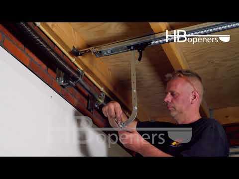 Montage Garagedeuropener HBJR Poortopener Instructie - HBopeners