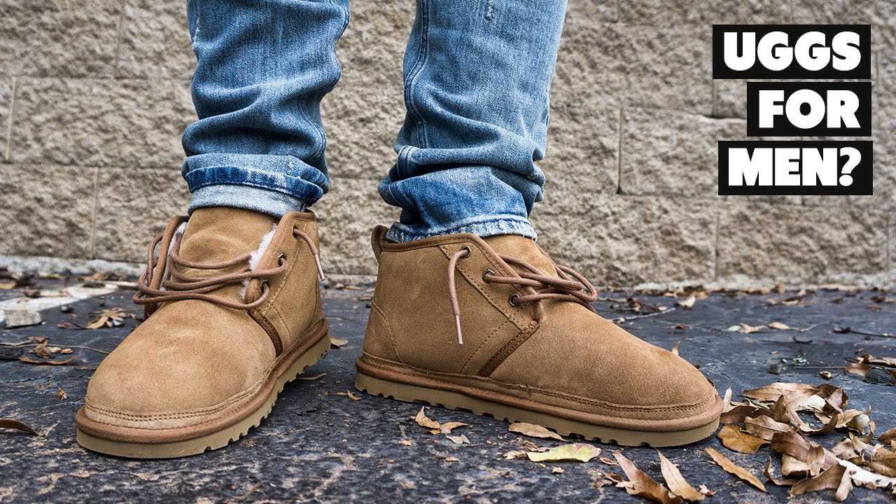 Chestnut Mens' UGG Neumel Review, Sizing On Foot - YouTube