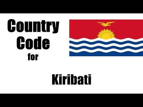 Kiribati Dialing Code - Kiribati Country Code - Telephone Area Codes In Kiribati