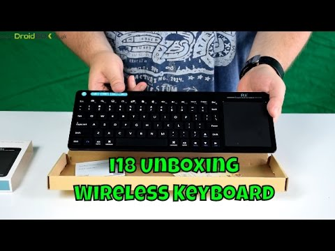 DroidBOX i18 Unboxing and Demo Wireless Keyboard | Windows | Android | Remote Control