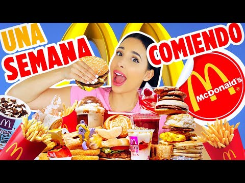 ONE WEEK EATING ONLY MCDONALD'S!! - I ATE MORE THAN 50,000 CALORIES 😱| Mariale