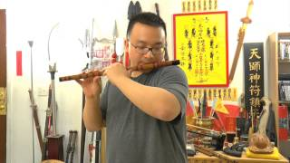 Dizi (Chinese Flute) Lesson - Playing Lower Notes, with Beautiful Music!