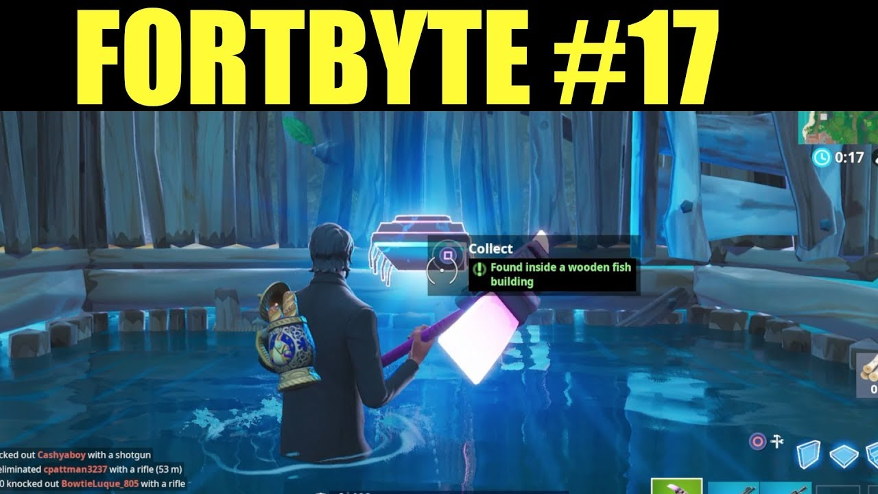 Fortbyte 17 Location Found Inside A Wooden Fish Building Fortnite Fortbyte Challenges