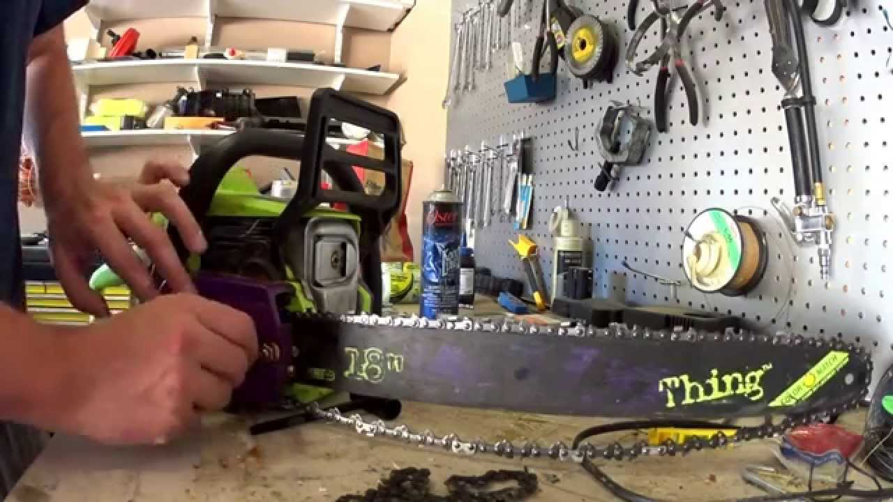 Chain replacement on a chainsaw how hard can it be youtube chain replacement on a chainsaw how hard can it be keyboard keysfo Image collections