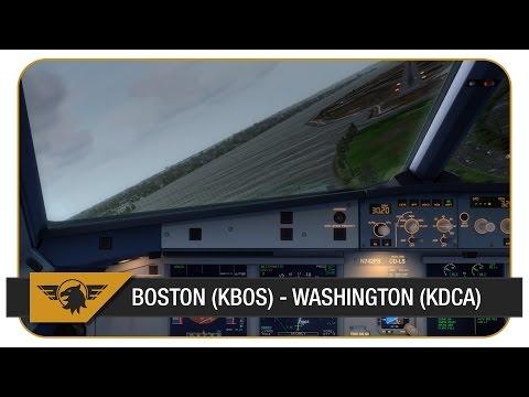 [Prepar3D] AWE2159 | US Airways | Boston (KBOS) - Washington (KDCA) | River Visual RWY19