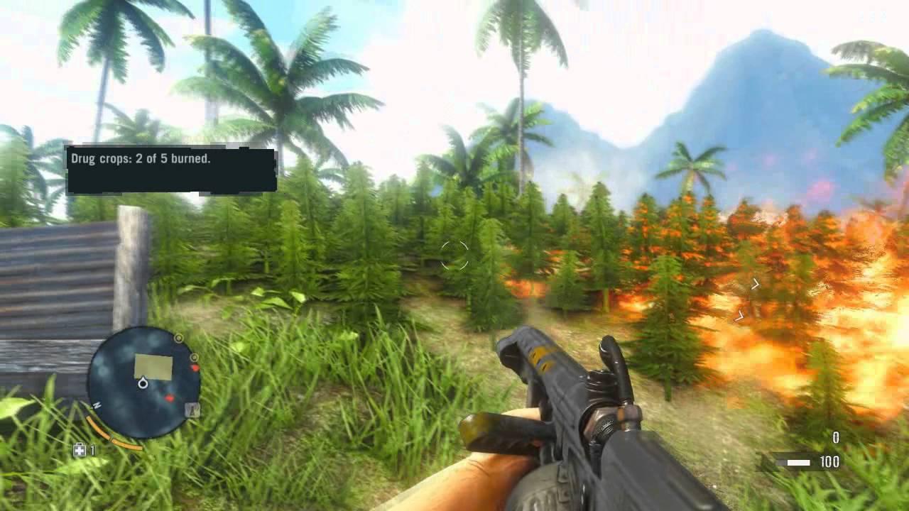 Far Cry 3 Weed Farm Destroyed - YouTube