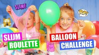 SLIJM ROULETTE BALLOON CHALLENGE!! [Squishies In Slijm Mixen] ♥DeZoeteZusjes♥