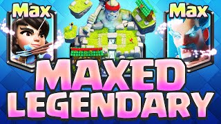 Clash Royale LEGENDARY Cards - MAXED Legendaries in a Royal Battle!