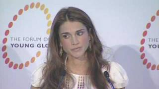 Queen Rania opens the YGL Dead Sea Summit
