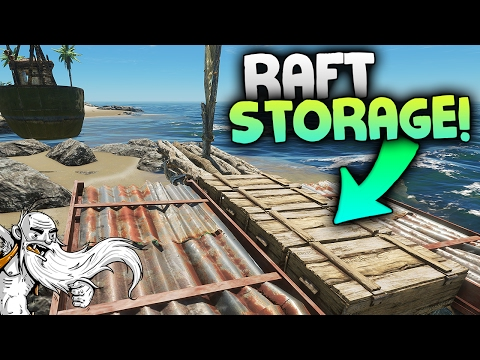 "Stranded Deep Gameplay - ""CUSTOM RAFT STORAGE!!!""  - Let's Play Walkthrough"