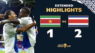 Extended Highlights: Suriname 1-2 Costa Rica - Gold Cup 2021