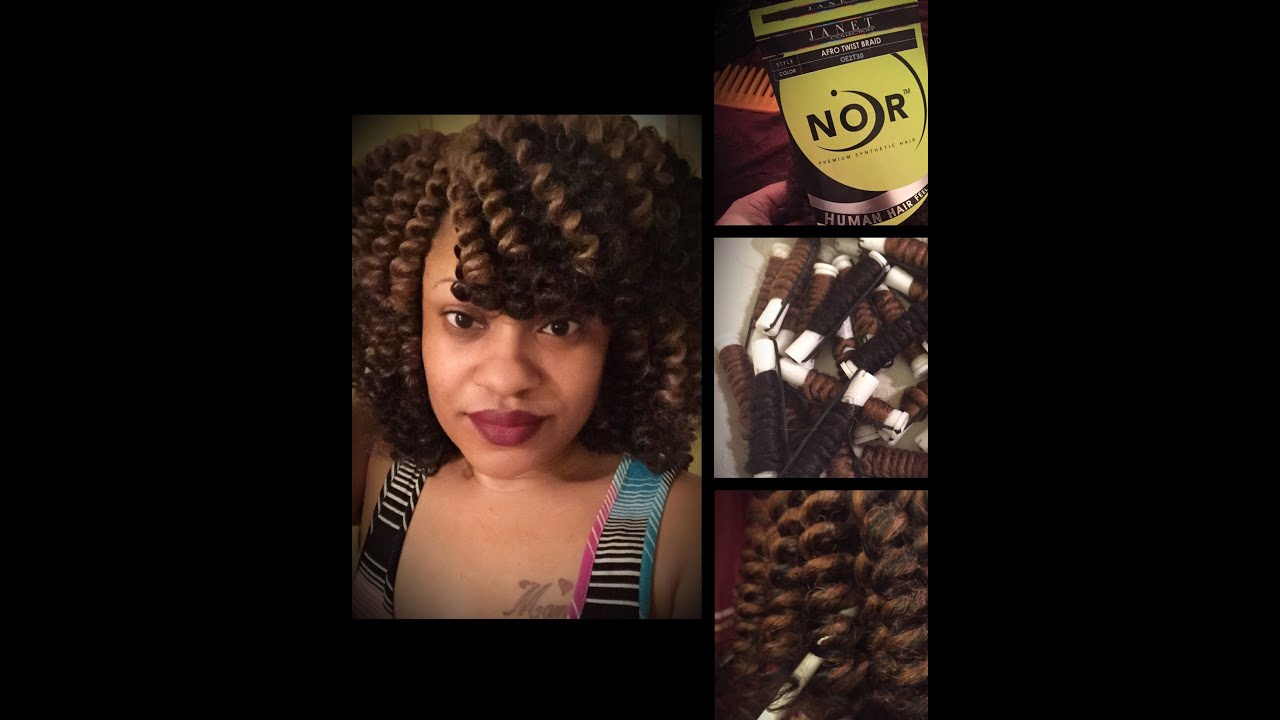 Installing of Crochet Braids using the Pre-Curled Method - YouTube