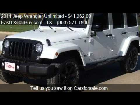 2014 jeep wrangler unlimited altitude for sale in longview youtube. Black Bedroom Furniture Sets. Home Design Ideas