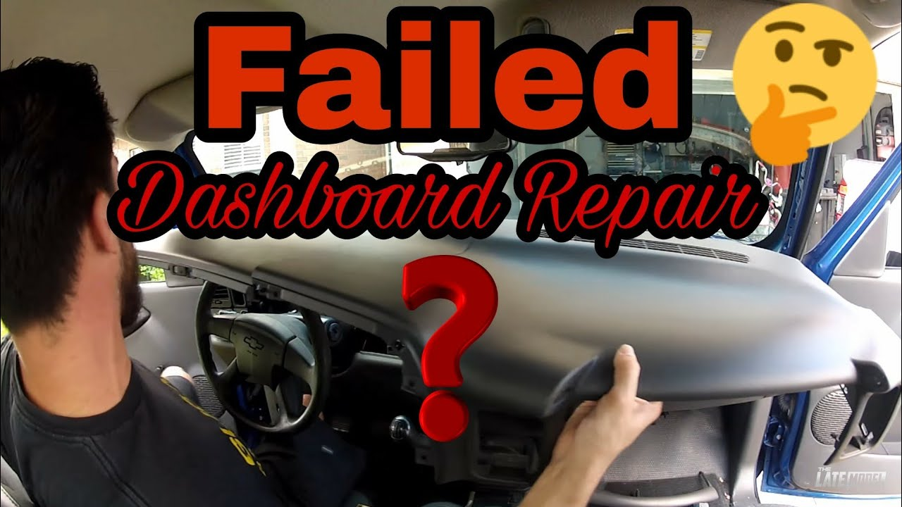 2007 Chevy Tahoe Dashboard Recall >> Cracked Dashboard Repair Gmc Chevrolet Flipping A Silverado Ls Episode 6