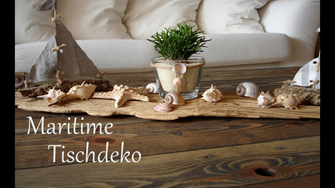 diy maritime tischdeko sommerdeko centerpiece schnell und einfach just deko youtube. Black Bedroom Furniture Sets. Home Design Ideas