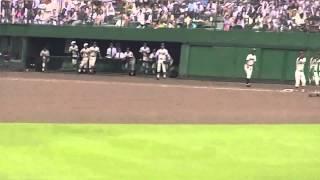 第97回全国高校野球選手権兵庫大会 準決勝 11回裏、先頭の明石商業高校...