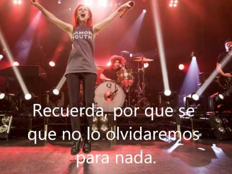 Paramore All We Know subtitulada en español